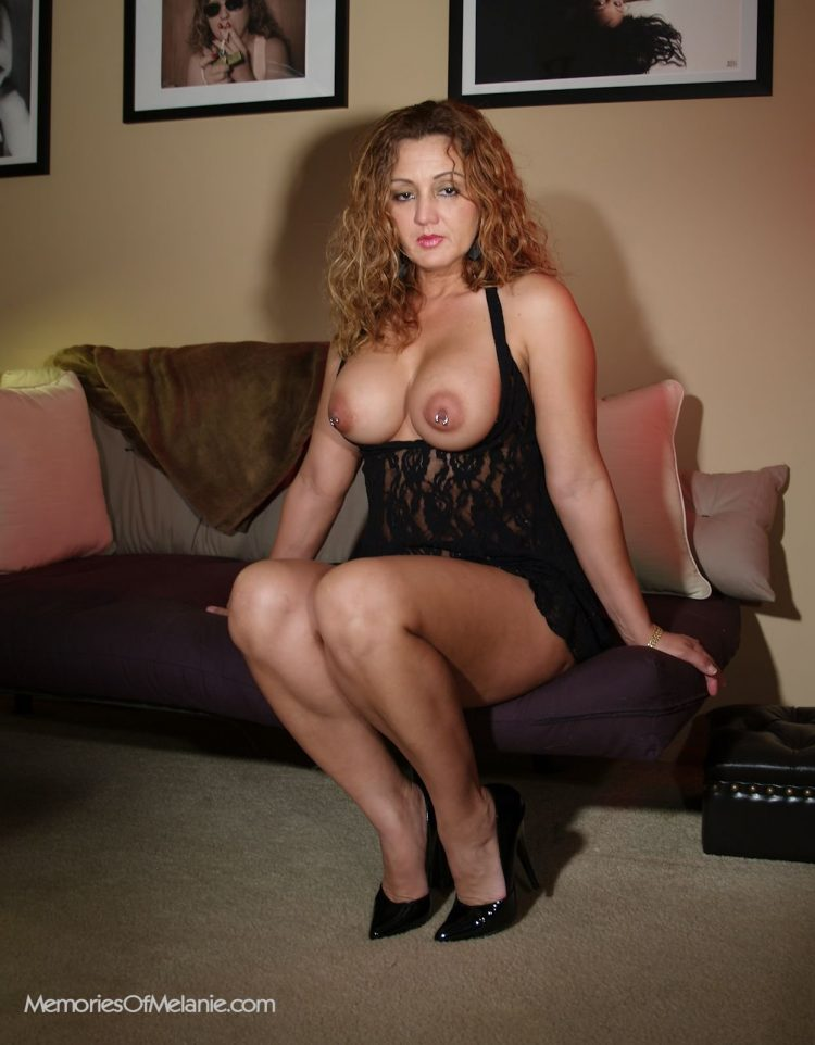 The Latina beauty, Melanie, is truly eye candy with her voluptous body and stunning looks.
