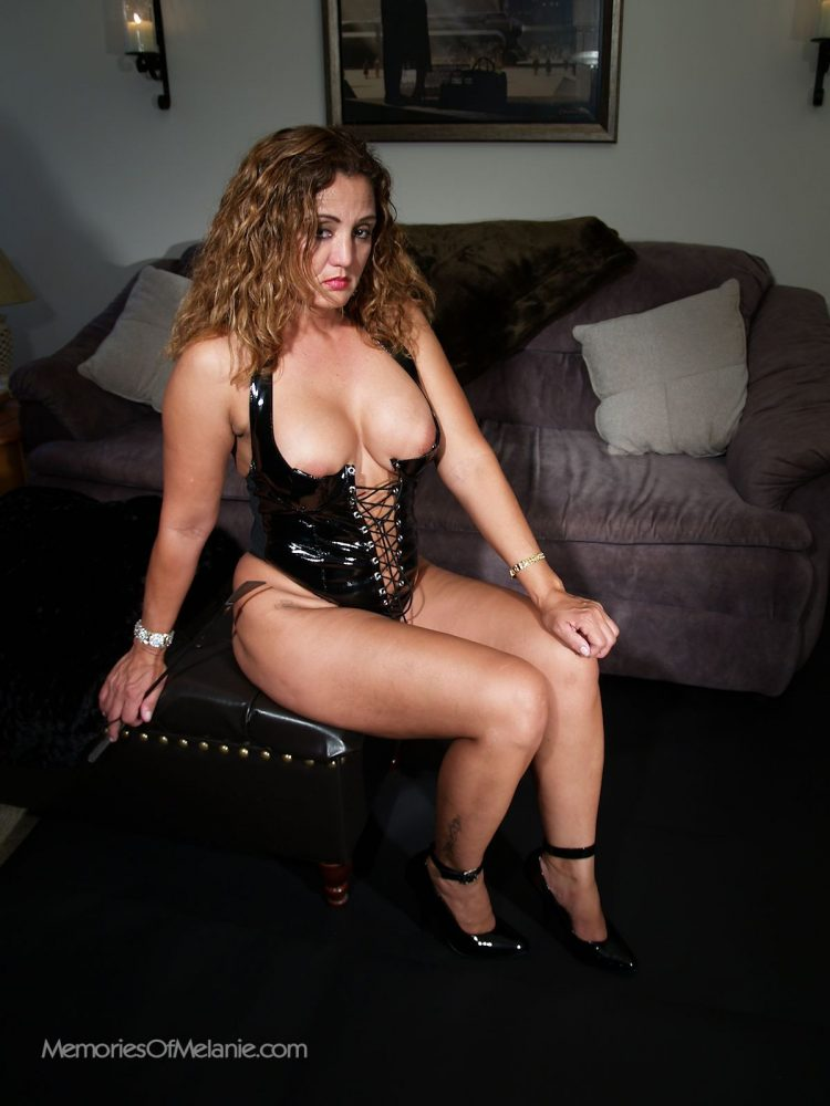 Busty Latina mistrees ofers sweet domination of her slaves.